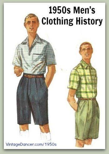 1950s Men S Clothing And Fashion History Casual Styles Learn At Vintagedancer