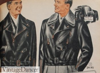 1950s mens leather motorcycle jackets