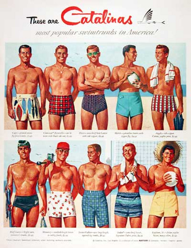 Vintage Men's Swimsuits – 1930s to 1970s