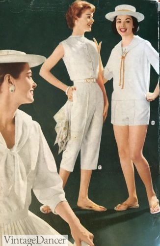 1959 white summer outfits. Click to see more.