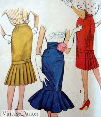 1950s fishtail skirts