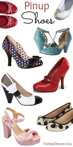 Pin up Shoes! Retro Vintage style pinups heels, pumps, flats, wedges, platforms, and polka dots. Shop Sahafah24.info
