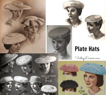 1950s Plate and Mushroom Hats