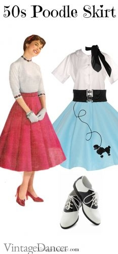 50s Felt skirt (L) and poodle costume (R)
