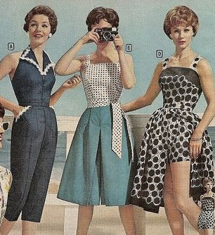 Image result for vintage jumpsuit 40s 50s