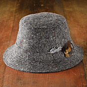 1950s men hat tweed walking hat