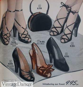 1950s fancy sandal heels