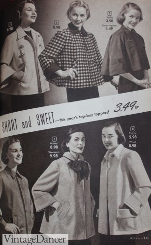 1950s short coats called box coats and toppers