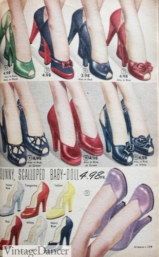 1950s heels, tall heels shoes 1952