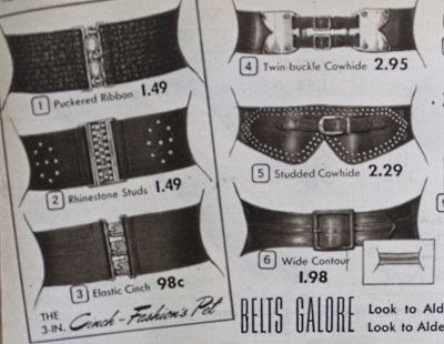 1953 Leather and metal belts