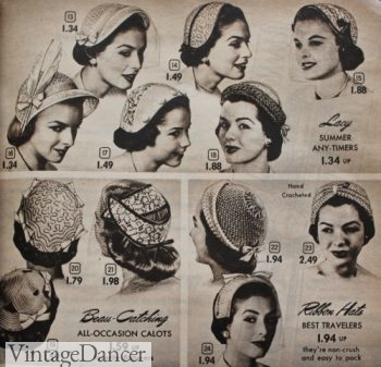 1953 Bonnet and Helmet etexture hats