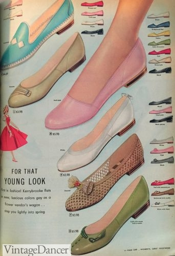 392f1de262b6f2 1950s Shoe Styles- History and Shopping Guide