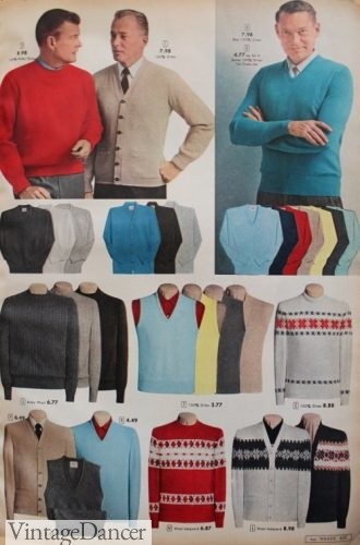 1957 Men's sweaters and sweater vests