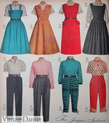 1957 teen girls casual outfits