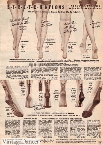 1950s nylons for sale ad catalog