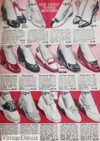 1958 casual shoes and fancy heels