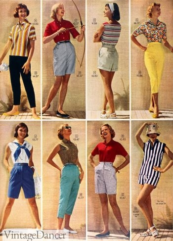 Summer outfits from 1958