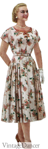 1959 Plus Size Floral Dress by Lane Bryant. Sahafah24.info