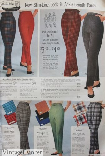 1959 the end of the dace saw pants in bright colors and big patterns