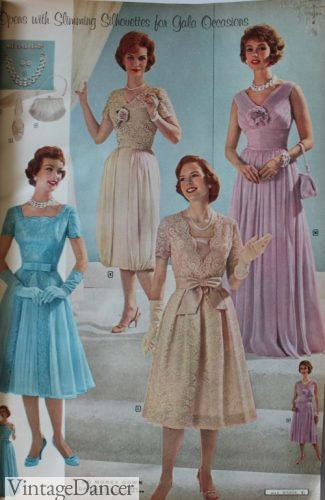 1960 lace mother's dresses