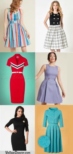 60 dresses, Jackie O style, Swing dresses, Suits, Shifts and Mod
