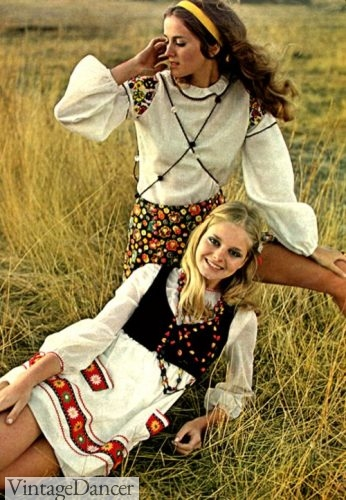 """Folk"" pattern hippie dresses"