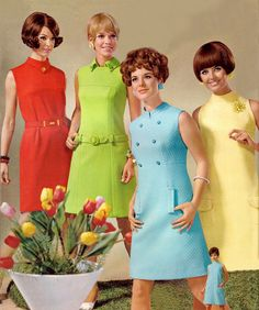 1960s sheath dresses like those worn in Mad Men