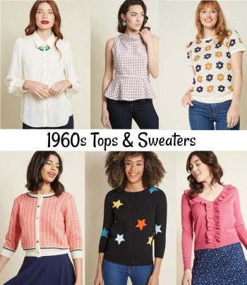 60s tops and sweaters at Modcloth