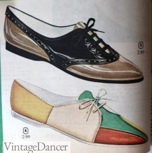 1964 Two Tone Oxford Flats