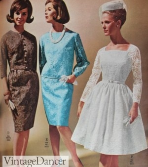 1964 - 1960s Short Wedding Dress and Bridesmaid Dresses