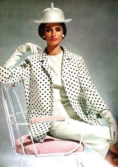 1964 polka dot jacket dress