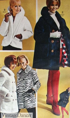 1960s faux fur jackets and short coats, zebra jacket!