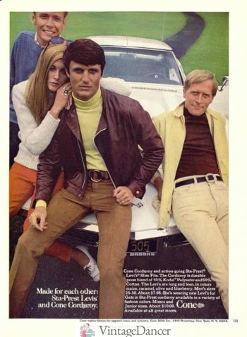 1968 leather jackets in new colors that stood out