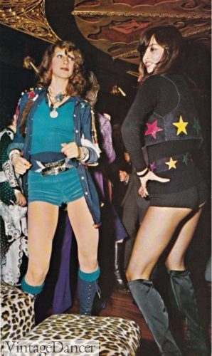 70s Hot Pants and Tall Boots- disco fashion