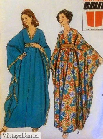 1970s caftan or hostess dress patter