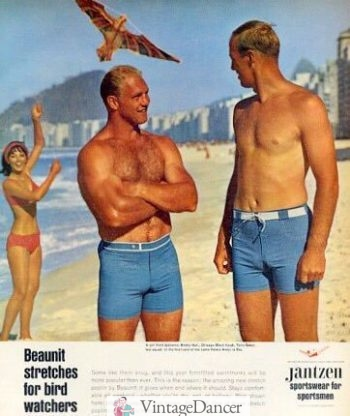 a857750a61 Vintage Men's Swimsuits - 1930s to 1970s History