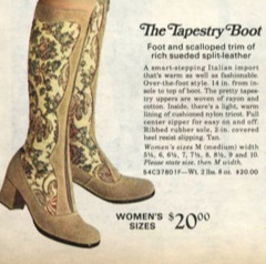 1970s Tapestry granny boots