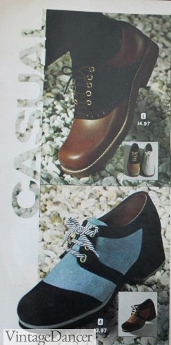 1973 platform saddle shoes