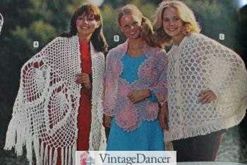 1973 crochet ponchos and wraps
