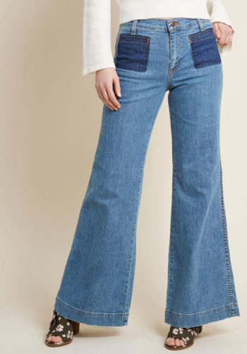 7509de4395d 70s bell bottom flare jeans. 1970s high waisted wide leg denim blue jeans  with patch