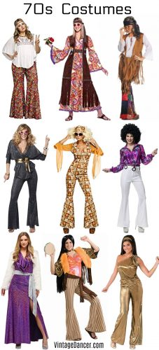 70s costumes Women's hippie disco Halloween party ideas at Sahafah24.info