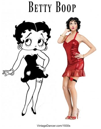 Black And White Betty Boop Costume
