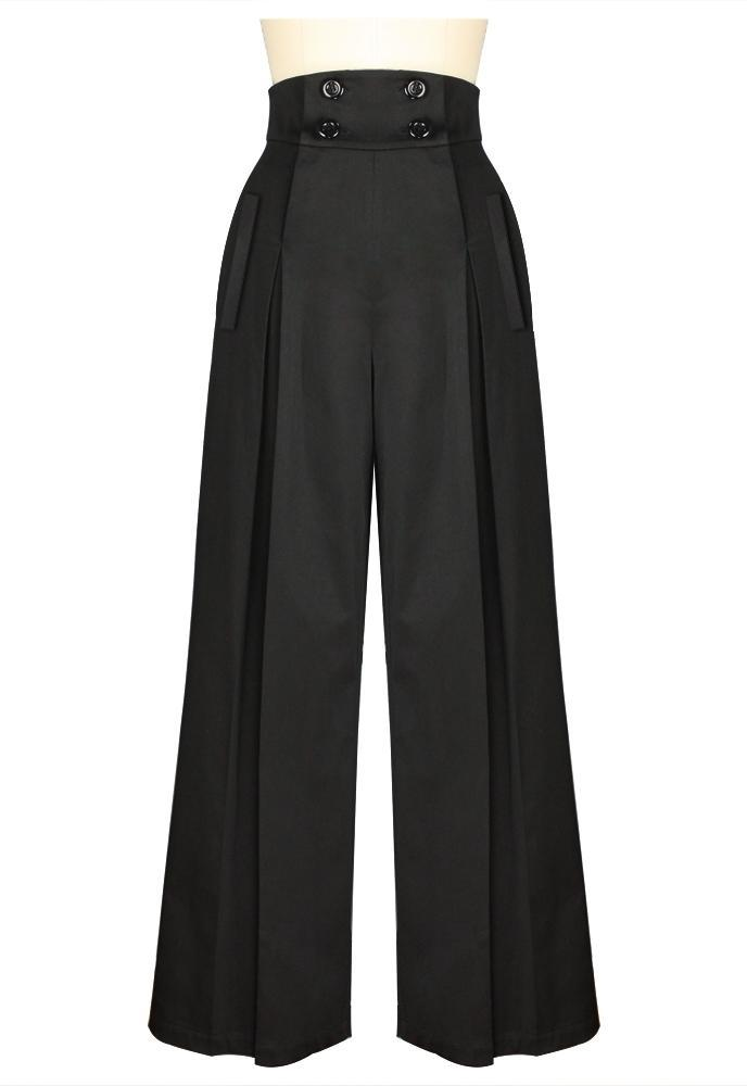 1920s Style Women's Pants, Trousers, Knickers, Tuxedo Vintage Wide Leg Pants $43.95 AT vintagedancer.com