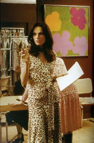 Diane Von Furstenberg wearing a wrap dress