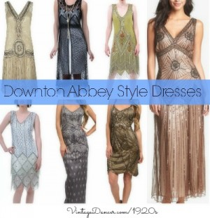 Downton Abbey style 1920s Dresses