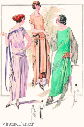 1920 Grecian style evening gowns