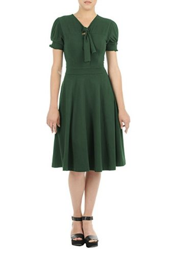 Simple, 1940s dress by eShakti