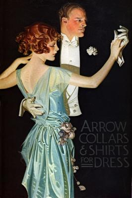 1920s evening wear, means white gloves