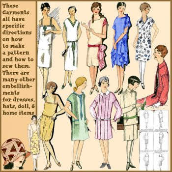 Frocks the Easy way (1929) is a very versatile pattern with many simple variations. Find more 1920s sewing pattern we love at VintageDancer.com