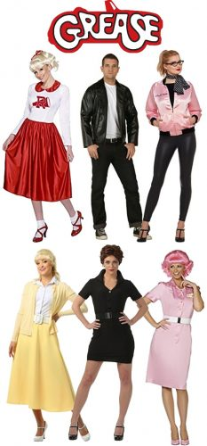 Grease costumes, Sandy, Rizzo, Frenchie, Pink Ladies